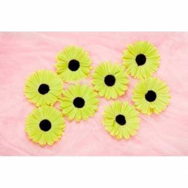 Decoratie bloemen lime voor klamboes 12 stuks