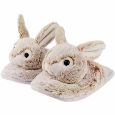 Dieren konijn/haas instap sloffen/pantoffels voor kinderen