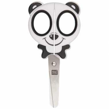 Dieren schaar panda gezicht met ronde punt voor kinderen