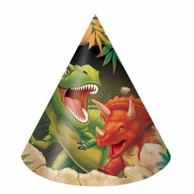 Dinosaurus feesthoedjes 16 stuks