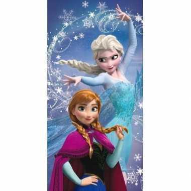 Disney frozen anna en elsa badlaken/strandlaken 70 x 140 cm