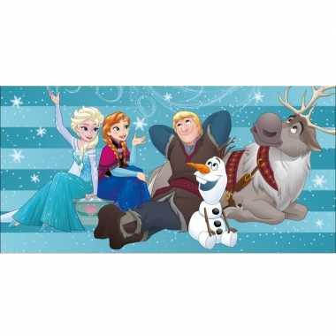 Disney frozen familie badlaken/strandlaken 75 x 150 cm