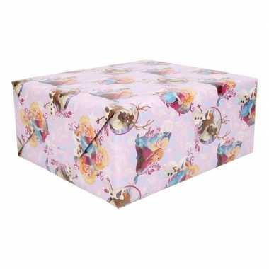 Disney frozen paars inpakpapier 200 x 70 cm op rol
