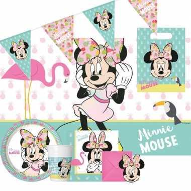 Disney minnie mouse kinderfeestje feestpakket 6-12 personen