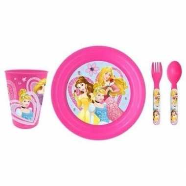 Disney princess ontbijtset 3-delig kinder servies