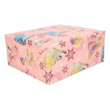 Disney prinsessen kerst inpakpapier 1 rol 70 x 200 cm