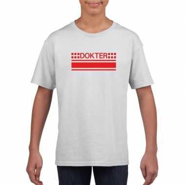Dokter logo t-shirt wit voor kinderen