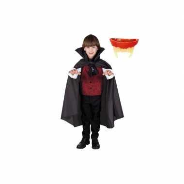 Dracula cape inclusief gebit voor kinderen