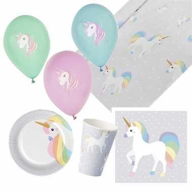 Eenhoorn kinderfeestje feestpakket 4-10 personen