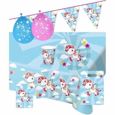 Eenhoorn thema kinderfeestje versiering pakket 2-8 personen