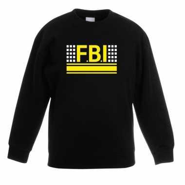 Fbi logo sweater zwart voor kinderen