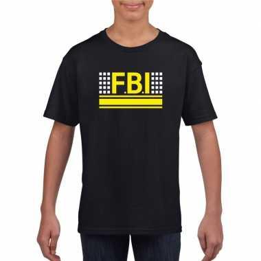 Fbi logo t-shirt zwart voor kinderen