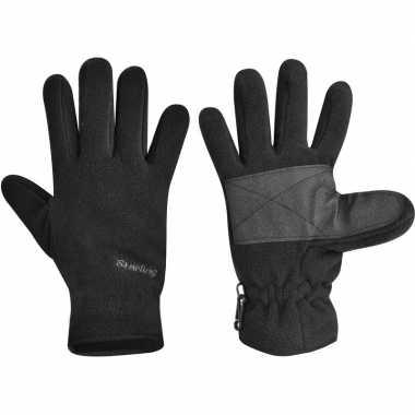 Fleece handschoenen starling zwart voor kinderen
