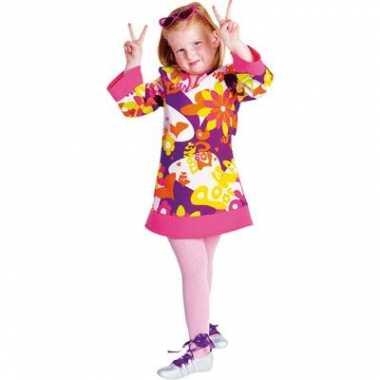Flower power outfit meisjes