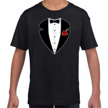 Gangster / maffia pak kostuum t-shirt zwart voor kinderen