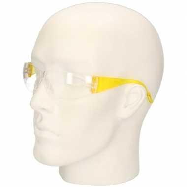 Gele vuurwerkbril/veiligheidsbril voor kinderen