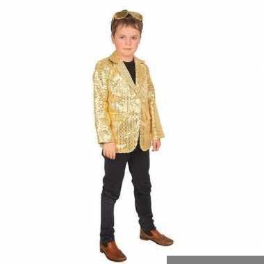 Goud glitter verkleed jasje voor kinderen