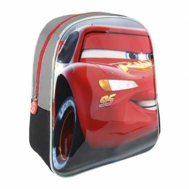 Grijze disney cars lightning mcqueen 3d rugtas voor kinderen