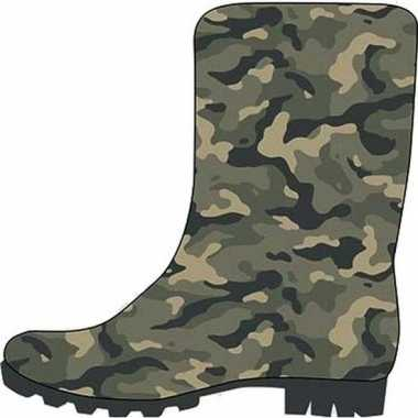 Groene peuter/kinder regenlaarzen camouflage/leger print