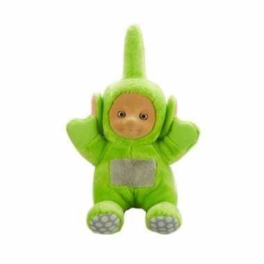 Groene teletubbie dipsy knuffel/pop met geluid 20 cm