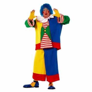 Grote maat clowns kostuum voor heren