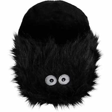 Grote zwarte monster voetenwarmer slof voor kinderen/dames
