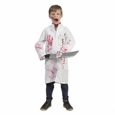 Halloween - bebloede doktersjas voor kinderen