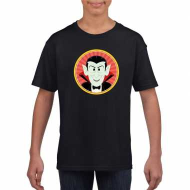 Halloween - halloween vampier/dracula t-shirt zwart kinderen