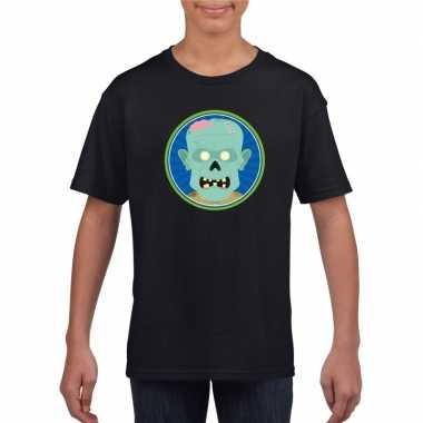 Halloween - halloween zombie t-shirt zwart kinderen
