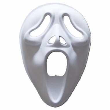 Halloween - papier mache masker screamer
