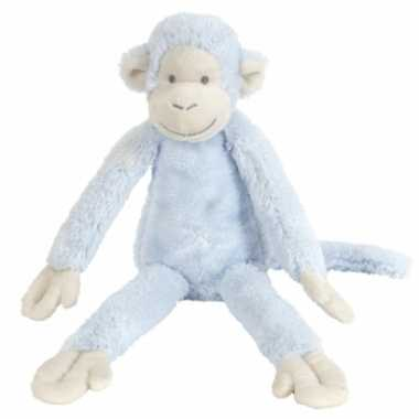 Happy horse blauwe pluche knuffel aap mickey