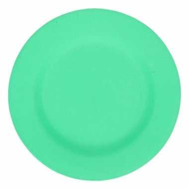Hard bamboevezel bord groen 17,5 cm
