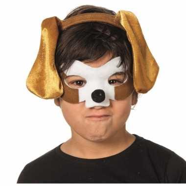 Honden masker en tiara voor kinderen