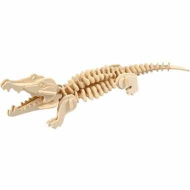 Houten 3d puzzel krokodil