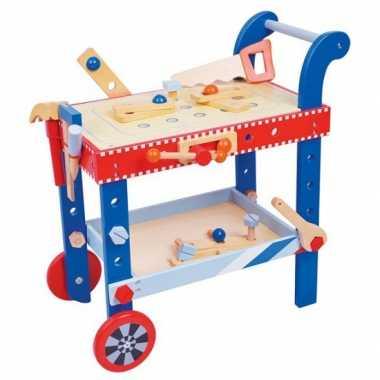 Houten gereedschapswagen voor kinderen