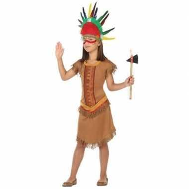 Indiaan/indianen jurk/jurkje verkleed kostuum voor meisjes