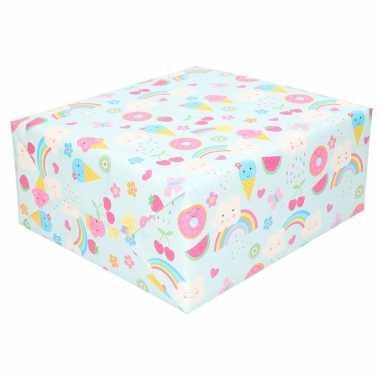 Inpakpapier kinder verjaardag met ijsjes 200 x 70 cm