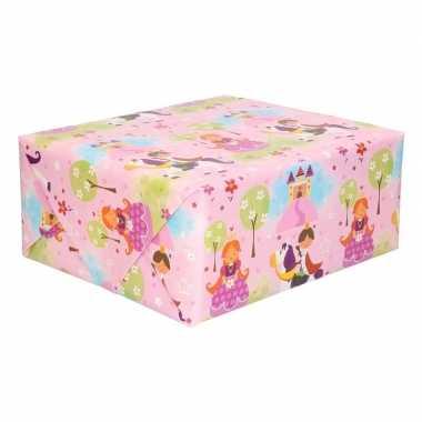 Inpakpapier met prinsessenprint 200 x 70 cm