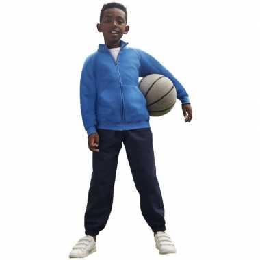 Joggingbroek/sportbroek navy blauw voor kinderen
