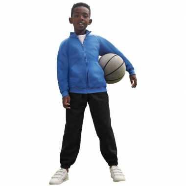 Joggingbroek/sportbroek zwart voor kinderen