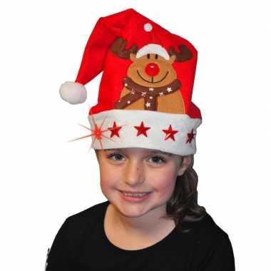Kerstmuts met lichtjes voor kinderen
