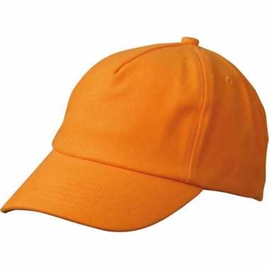 Kinder baseball caps oranje