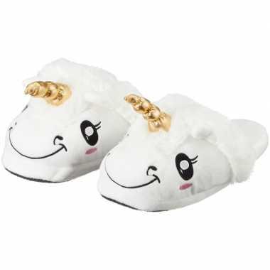 Kinder dieren pantoffels/sloffen eenhoorn slippers