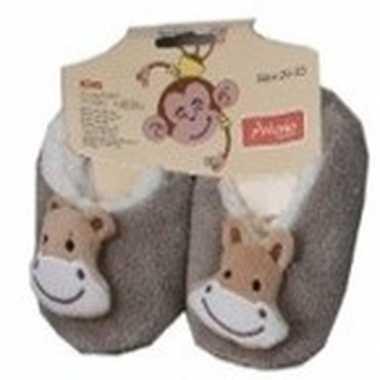 Kinder dieren pantoffels/slofjes aap