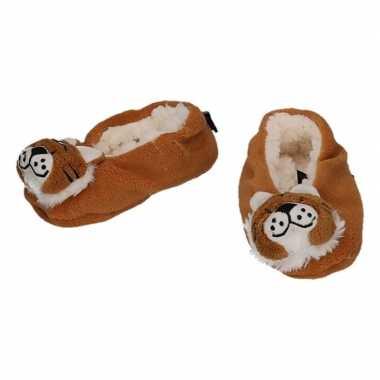 Kinder dieren pantoffels/slofjes tijger