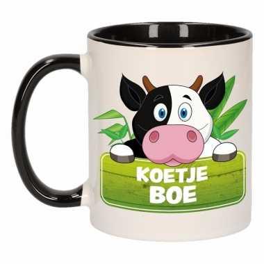 Kinder koeien mok / beker koetje boe zwart / wit 300 ml