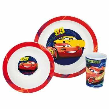 Kinder ontbijt set cars