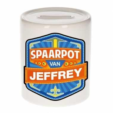 Kinder spaarpot voor jeffrey