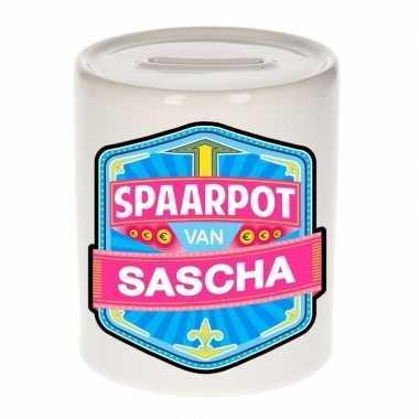 Kinder spaarpot voor sascha