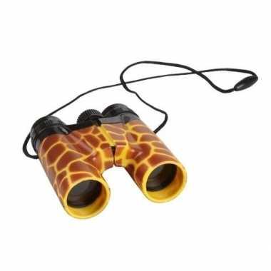 Kinder speelgoed verrekijker giraffe print 11cm